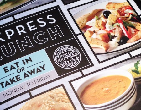 New Pizza Express lunchtime menu