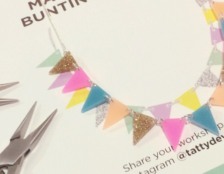 Tatty Devine bunting workshop at Baltic