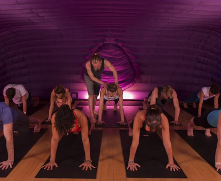 Striking a pose with Hotpod Yoga