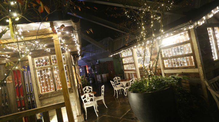Winter rooftop terrace at The Botanist