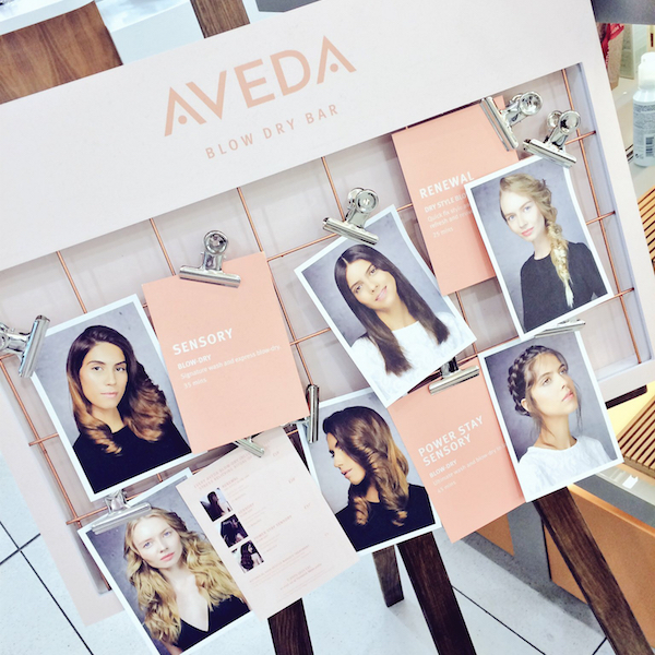 Aveda blow dry bar