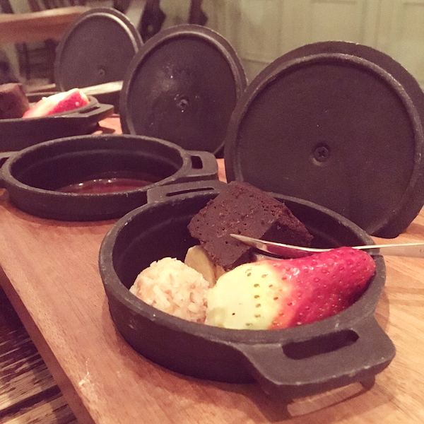 The Botanist chocolate fondue