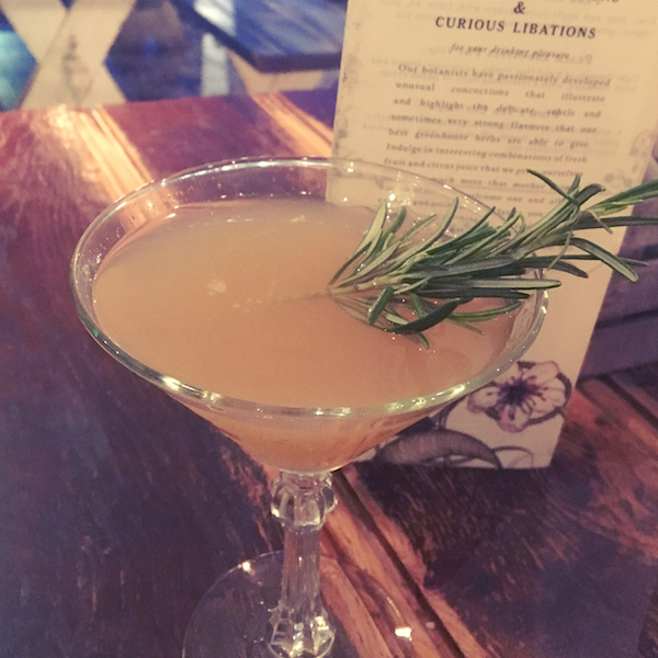 The Botanist martini cocktail
