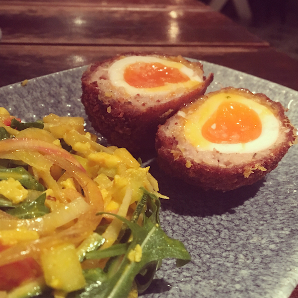 The Botanist scotch eggs