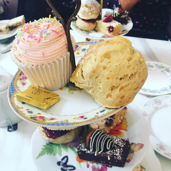 The Great British Cupcakery afternoon tea for one
